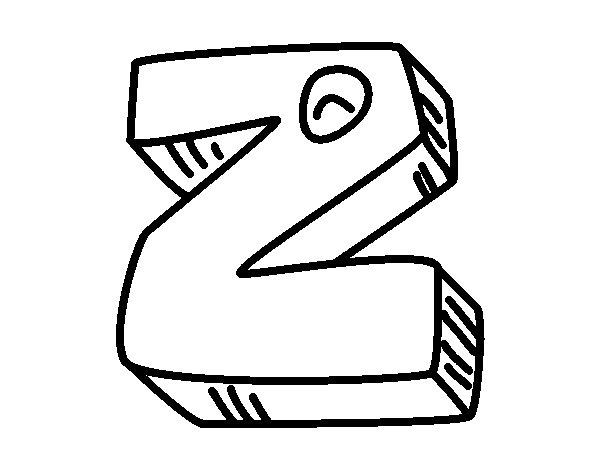 Desenho de Letra Z para Colorir