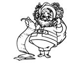 Desenho de  Lista de Papai Noel para colorear