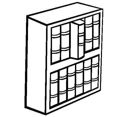Desenho de Livraria para Colorir