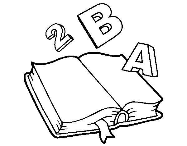 Dibujos Para Colorear De Libro Y Libreta: Desenho De Livro Animado Para Colorir