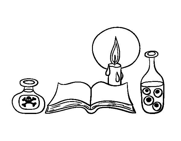 Desenho de Livro de feitiços para Colorir