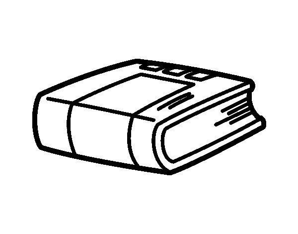 Desenho de Livro de história para Colorir