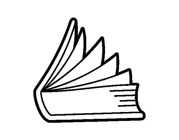 Desenho de Livro entreabierto para Colorir