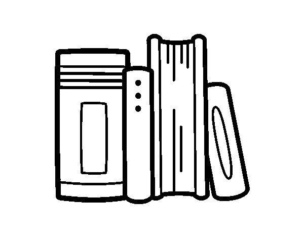 Desenho de Livros escolares para Colorir