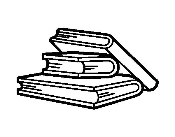 Desenho de Livros para ler para Colorir