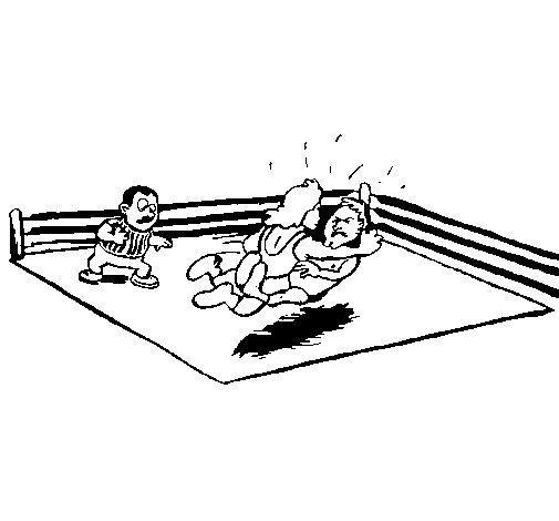 Desenho de Luta no ring para Colorir