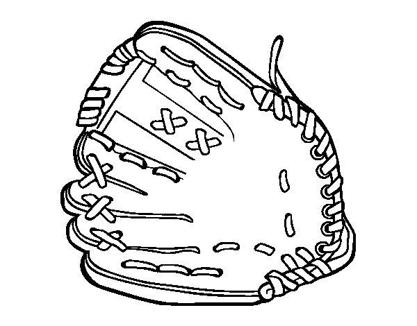 Desenho de Luva de beisebol para Colorir