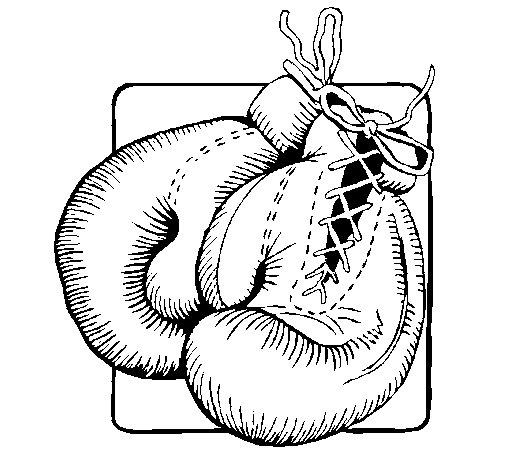 Desenho de Luvas de boxe para Colorir