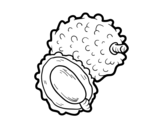 Desenho de Lychee para colorear