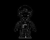 Desenho de Macaco espacial para colorear
