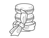 Desenho de Macarons para colorear