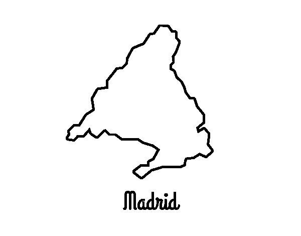 Desenho de Madrid para Colorir