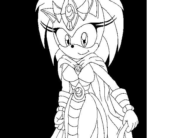 Desenho de Mãe do Sonic para Colorir