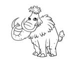 Desenho de Mamute pré-histórico para colorear