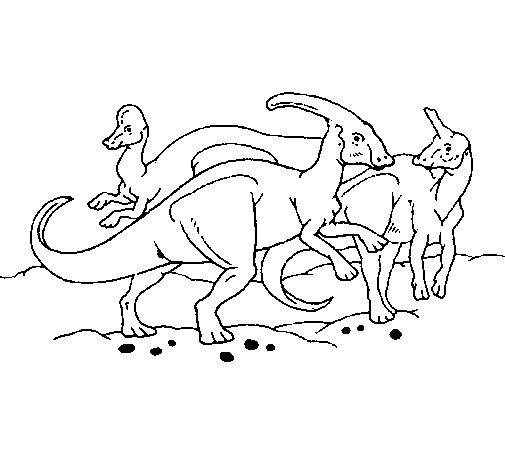 Desenho de Manada de herbívoros para Colorir