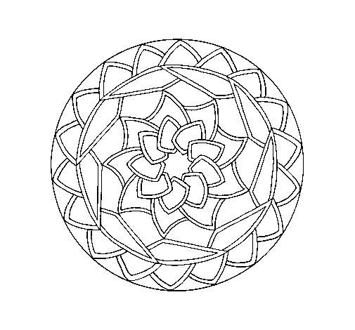 Desenho de Mandala 1 para Colorir
