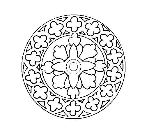 Desenho de Mandala 21 para Colorir