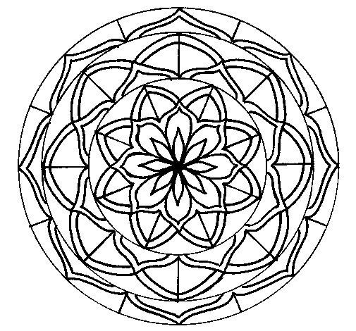 Desenho de Mandala 6 para Colorir