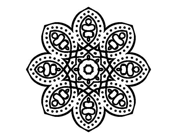 Desenho de Mandala árabe para Colorir