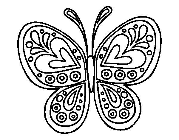 Desenho de Mandala borboleta para Colorir