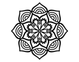 Desenho de Mandala crescimento exponencial para colorear