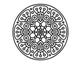 Desenho de Mandala crop circle para colorear