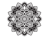 Desenho de Mandala decorativa para colorear