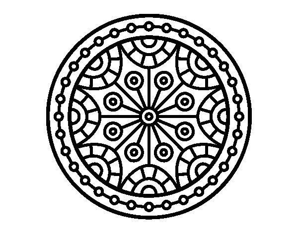 Desenho de Mandala equilíbrio mental para Colorir