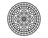 Desenho de Mandala equilíbrio mental para colorear