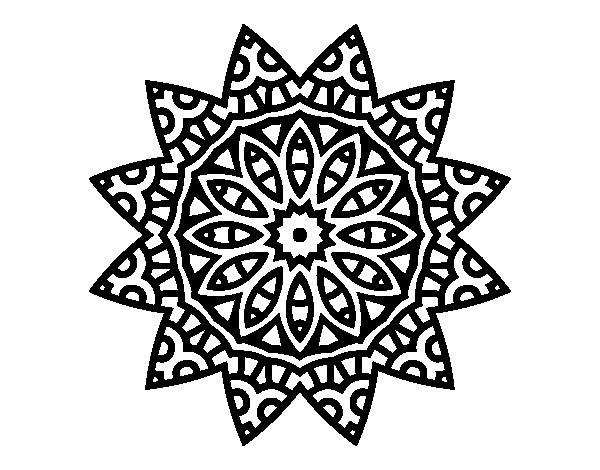Desenho de Mandala estrela para Colorir