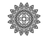 Desenho de Mandala flashes para colorear