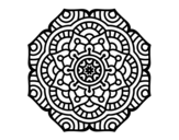 Desenho de Mandala flor conceitual para colorear