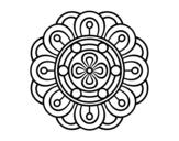 Desenho de Mandala flor criativo para colorear