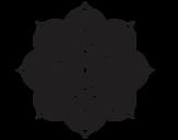 Desenho de Mandala flor oriental para colorear