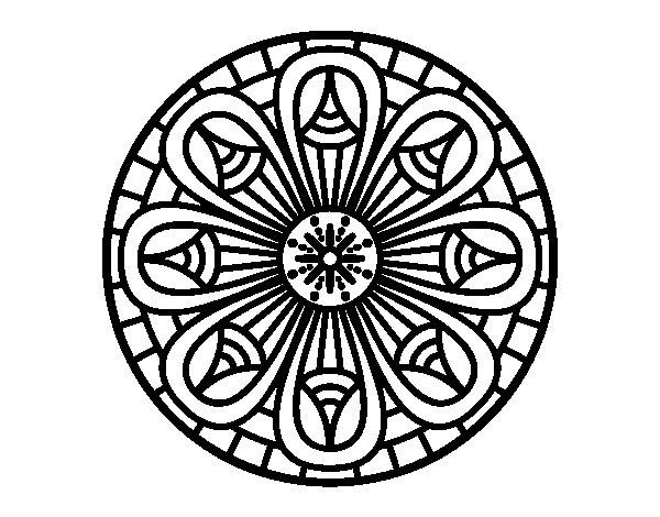 Desenho de Mandala lápis para Colorir