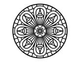 Desenho de Mandala lápis para colorear