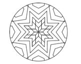Desenho de Mandala mosaico estrela para colorear