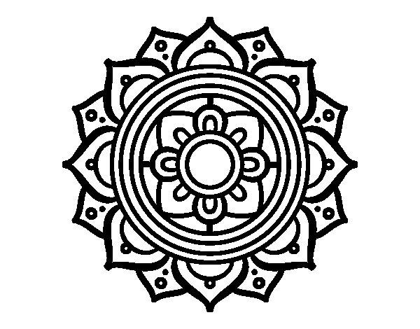 Desenho de Mandala mosaico griego para Colorir