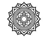 Desenho de Mandala mosaico griego para colorear