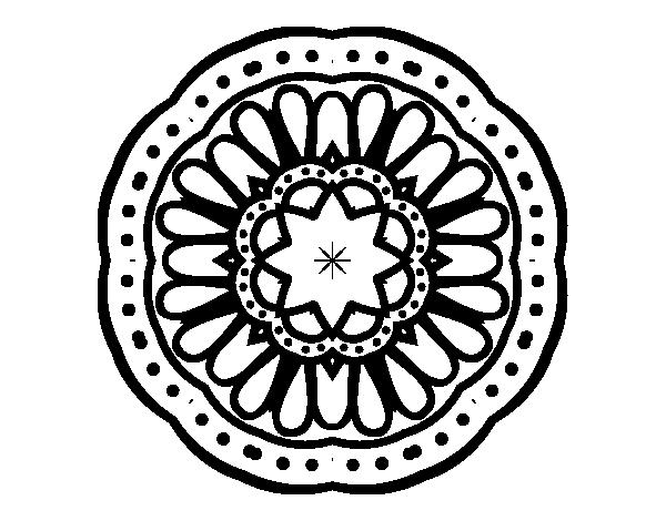 Desenho De Mandala Mosaico Para Colorir
