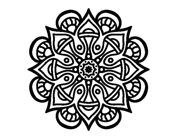 Desenho de Mandala mundo árabe para Colorir