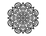 Desenho de Mandala mundo árabe para colorear