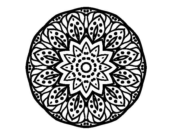 Desenho de Mandala natureza para Colorir