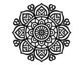 Desenho de Mandala para a concentração mental para colorear