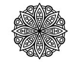 Desenho de Mandala para a concentração para colorear
