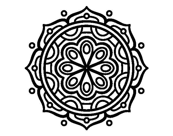 Desenho de Mandala para meditar para Colorir