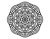 Desenho de Mandala para relaxamento mental para colorear