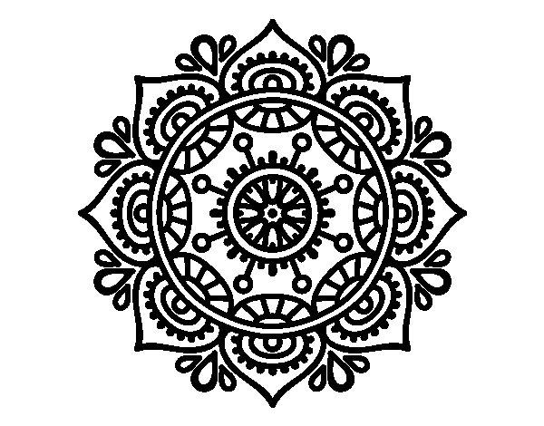 Desenho de Mandala para relaxar para Colorir