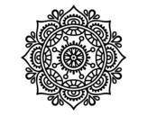 Desenho de Mandala para relaxar para colorear