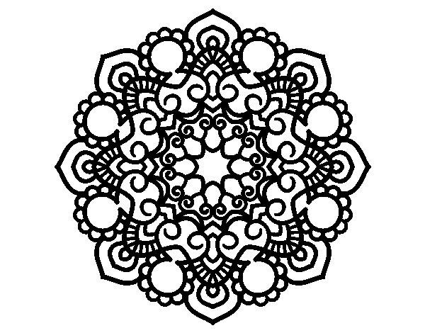 Desenho de Mandala reunião para Colorir